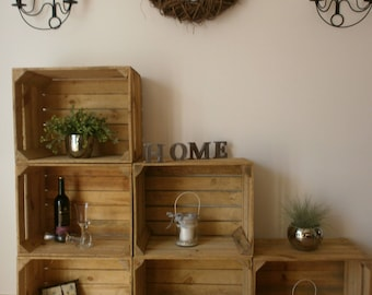 Decorative old fruit crates/wooden crates/apple Crates