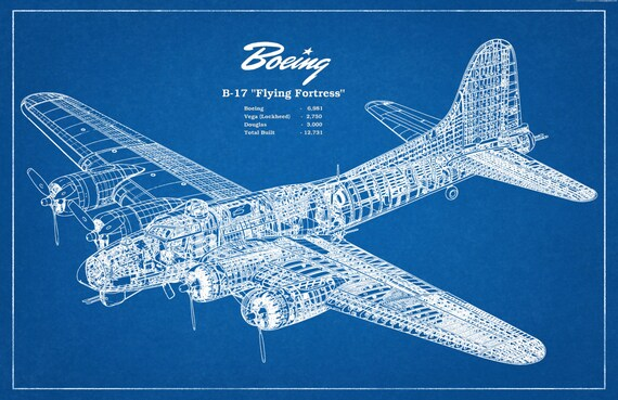 boeing  flying fortress wwii bomber airplane art