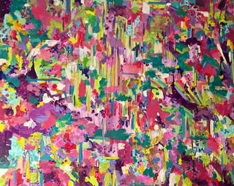 "Acrylic Canvas Painting: ""La Isla Bonita"""