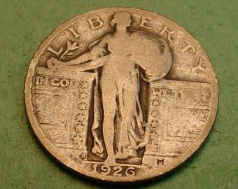 Standing Liberty Quarter 1926-S Fine<> # ET3827