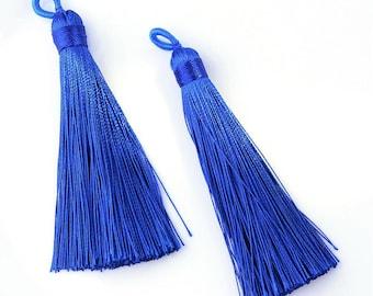 "3"" Long Tassel Blue 4 pcs"