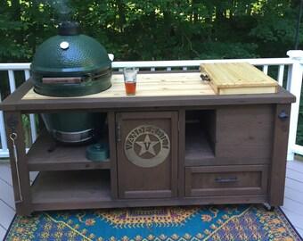 CUSTOM Grill Tables For Kamado Joe, Big Green Egg, Primo And Dual Or Gas