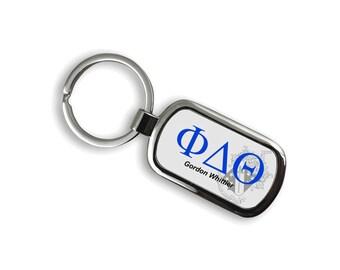 Phi Delta Theta Chrome Crest Key Chain
