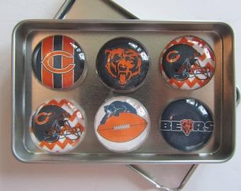 Chicago Bears Fridge Magnets, Chicago Bears Decor, Chicago, Chicago Bears, Chicago Bears Baseball Refrigerator Magnets, Chicago Gift