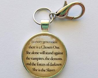 """Buffy The Vampire Slayer """"Chosen One"""" keychain"""