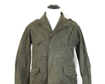1960's vintage australian army oiled cotton field jacket military