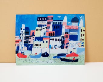 Fun and Colourful- Illustrated Giclée Print of Istanbul