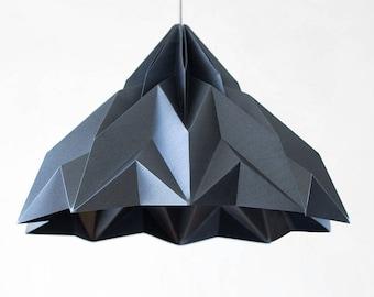 MAKE A WISH XL -  graphite - origami lampshade