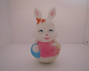 Vintage Plastic Roly Poly Rabbit