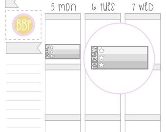 Multicolour To Clean Checklists   Planner Stickers   036