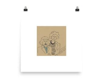 Simon and Garfunkel-ish - Poster Print