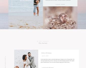 Custom WordPress Website Design  // Feminine website design // Divi Custom web design  // Ecommerce Website // Blogging website