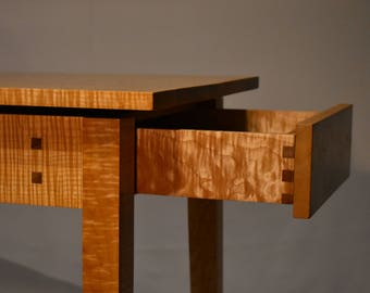 Tiger Maple Console Table