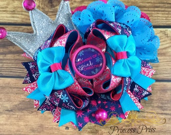 Im dreaming of a pink Christmas boutique hair bow