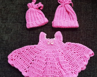 Premiture baby dress & 2 hats