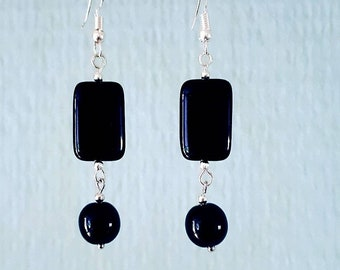 Silver Lampwork and Onyx