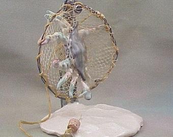 Blue Crab Escapes Clay Sculpture