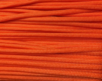 Clearance Neon Orange 550 Paracord Polyester Nylon Cord Made in USA 60 Plus Feet