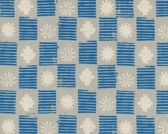 Sienna - Stamps Lapis - Alexia Abegg - Cotton and Steel Fabrics - Fabric by the Half Yard