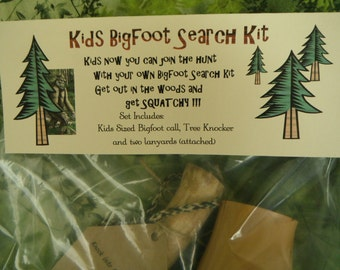 Bigfoot, Kids Bigfoot Search Kit Squatch Bigfoot Yowie Call and Tree Knocker Natural Handmade Sasquatch Call Find Bigfoot Call into the Wild