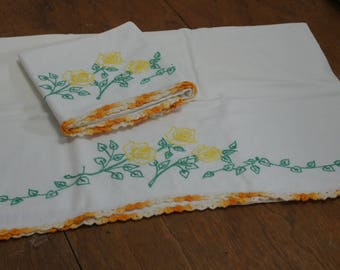 Vintage Bedding Re-Mix Embroidered Pillowcase Set