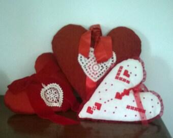 A heart pillow