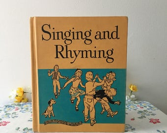 1950 Singing and Rhyming Music Book
