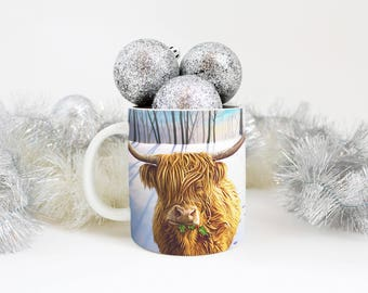 Highland Cow Mug,Highland Cow Cup,Christmas Cow Cup,Cow Mug,Highland Cow Gift,Cow Gift,Cow Present,Christmas Cup,Cows-sells UK/USA/AUSTRALIA