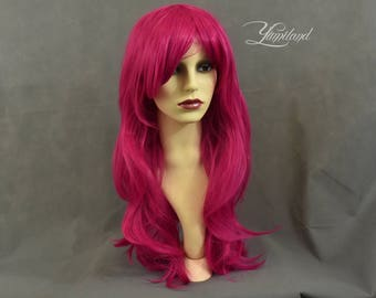 Hot Pink Wig | Magenta Wig | Long Magenta Wig | Pink Wig | Wavy Pink Wig | Long Wig with high quality synthetic hair