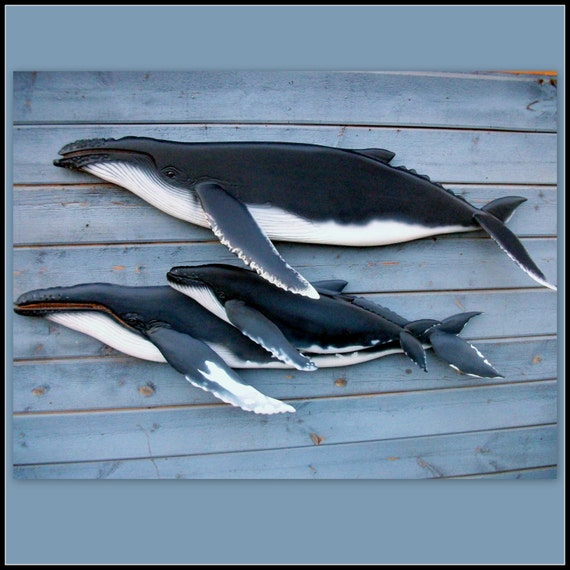 HUMPBACK WHALE Art Sculpture Wood Carvings Whale Carvings