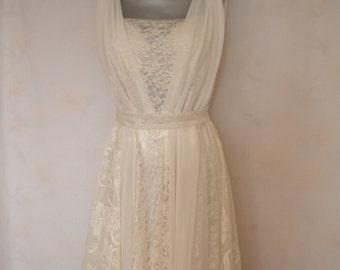bridal gown bohemian wedding dress fairy beach wedding dress lace wedding dress mori girl dress made to order
