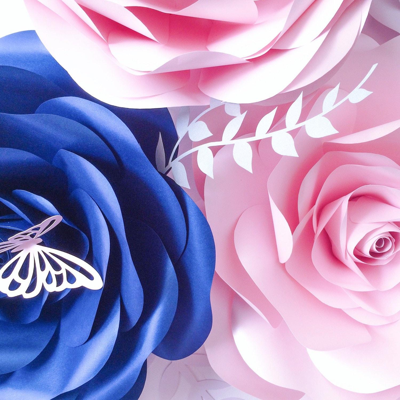 Royal Blue Blush Pink Wedding Decoration Ideas Large Paper