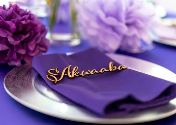 Wedding name table cards Acrylic escort place cards Wedding stationery Wooden laser cut names Place name settings Guest names Table seating