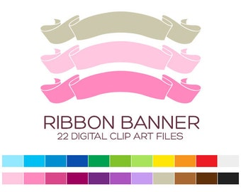 Ribbon Banner Clipart Digital Frames and Borders Clipart Label Clipart Birthday Party Clipart Wedding Clipart Invitation Clipart - A70007