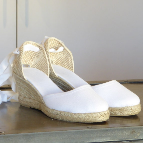 Lace Up Espadrille Wedges   Brides Collection   Made In Spain   Www.Mumicospain.Com by Etsy