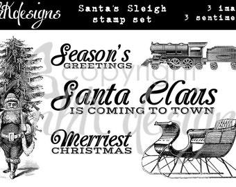 Santa's Sleigh Digital Stamp Set