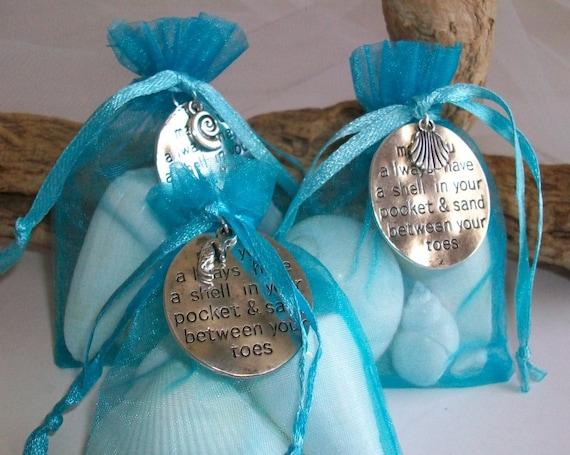 beach themed shell gift bag wedding favor seashell party