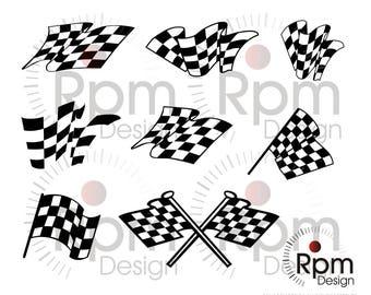 Checkered Flag SVG File, Checker Flag SVG, Racing SVG, Motorsports, cnc, Laser, Cricut, Silhouette, Cut, Digital File, Download