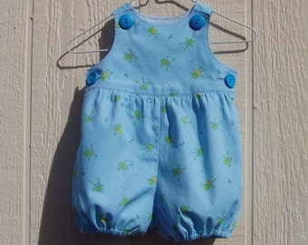 Small Frogs Romper Size 6 Months