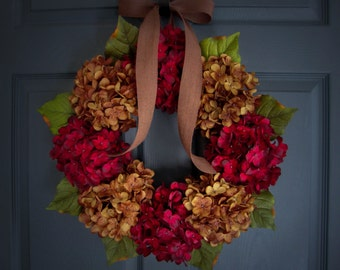 HYDRANGEA WREATHS | Wreaths for Door | Front Door Wreaths | Summer Wreath | Wreaths for Door | Housewarming Gift