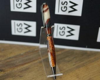 Acrylic Earths Core Gun Metal Slimline Pen
