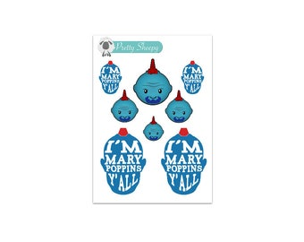 Mary Poppins Sticker Etsy