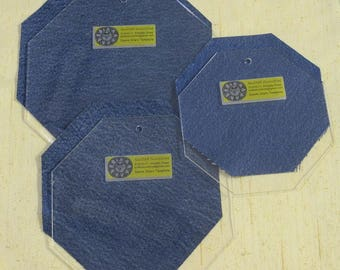 8-inch Laser Cut Acrylic Template for Denim Stars Quilt Pattern