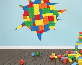 Kids Playroom Wall Decal colorful Wall Art Mural Kids Wallpaper Unique kids Room Design Wall Decal Murals for Kids Bedroom Stickers, n48
