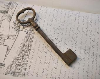 Antique French Key, vintage skeleton key, rustic home decor