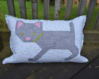 Animal Kitten Kaboodle Quilted Pillow Cushion decor pet cat decorative throw pillow