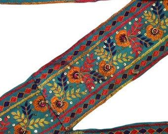 Vintage Sari Border Antique Sewing Hand Beaded Decorative Free Shipping Indian 1 Yard Trim Used Lace Antique Ribbon ST2020