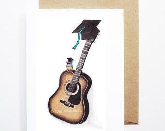 Graduation Card - Guitar, Grad Card, College Graduation, High School Grad, Congrats Grad, Congrats Card, Cute Music Card, Guitar Card