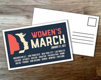 25 Postcards Women's March on Washington Anti-Trump