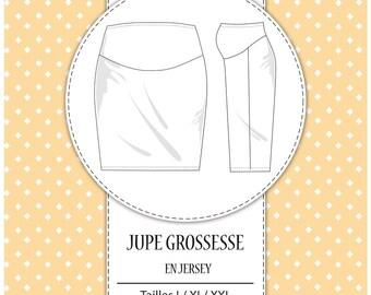 "Pack 3 sizes - L, XL and XXL - ""Pregnancy skirt pattern"" mesh"